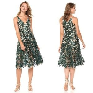 New Dress the Population Blair Sequin Midi Dress
